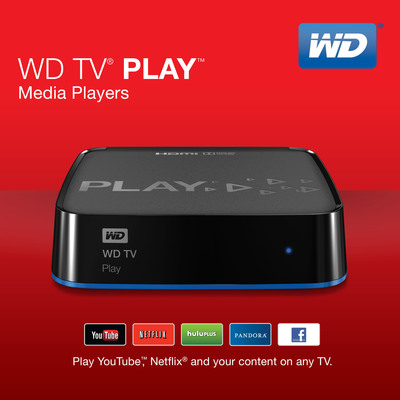 WD(R) Introduces Versatile Media Player For Streaming Fans.  (PRNewsFoto/WD)
