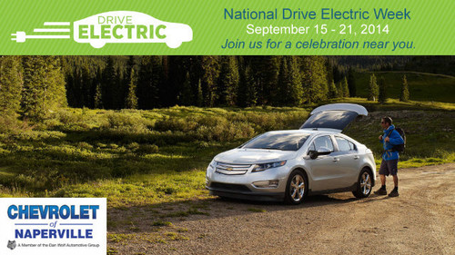 Anybody interested in the development and/or operation of electric cars may be interested in attending the National Drive Electric Week event held at the Naperville Test Track on Sept. 21. (PRNewsFoto/Chevrolet of Naperville)