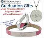 Personalized Jewelry Gifts for Grads at Eve's Addiction are custom made right online and ship in 24 hours. Hundreds of styles!.  (PRNewsFoto/EvesAddiction.com)