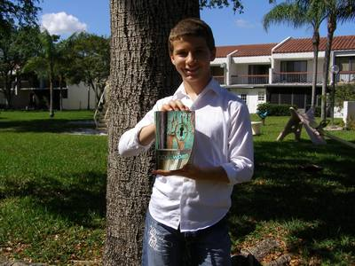 Giovanni Rubeo, a fifth grader in Broward County Public Schools, hails victory today. Attorneys with Liberty Institute received assurances from Broward County Public Schools that students are permitted to read their Bibles as a part of free reading time and during the Accelerated Reader(R) Program. (PRNewsFoto/Liberty Institute)