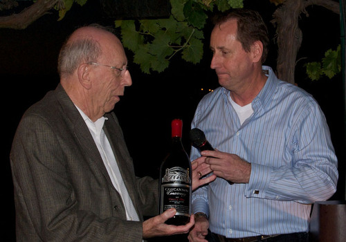 Jim Concannon presented 1st Tribute Bottle of 2009 Crimson & Clover, Conservancy, Livermore Valley.  ...