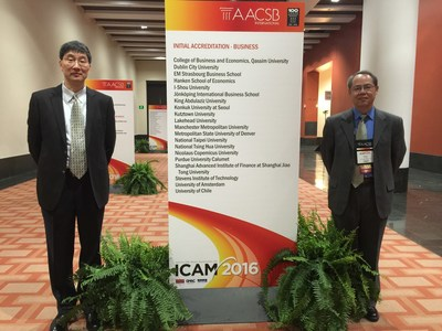 Jiang Wang, Chair of Academic Advisory Council and Chun Chang, Executive Dean of SAIF at AACSB ICAM