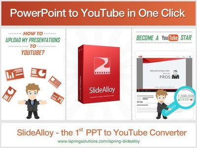 iSpring SlideAlloy - 1st PowerPoint to YouTube Converter. Learn more at http://www.ispringsolutions.com/ispring-slidealloy (PRNewsFoto/iSpring Solutions, Inc.)