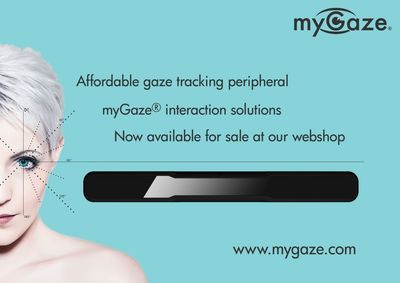 Affordable gaze tracking peripheral myGaze (R) interaction solutions. Now available for sale at our webshop: www.mygaze.com