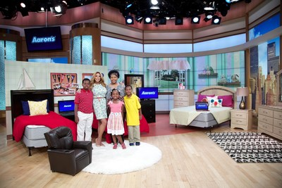 Aaron's and The Wendy Williams Show make over two children's bedrooms complete with furniture and electronics for Louisiana resident and Hurricane Isaac survivor Latasha Lee and her family as a part of the 'Win a Room in June' contest.