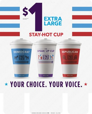 The day after the three presidential debates, 7-Eleven will offer fresh-brewed coffee in its extra-large 7-Election(TM) Stay-Hot Cups - for just $1.