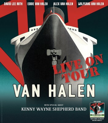 VAN HALEN TO TOUR NORTH AMERICA SUMMER/FALL 2015; SET TO PERFORM ON JIMMY KIMMEL LIVE ON MARCH 30 & 31