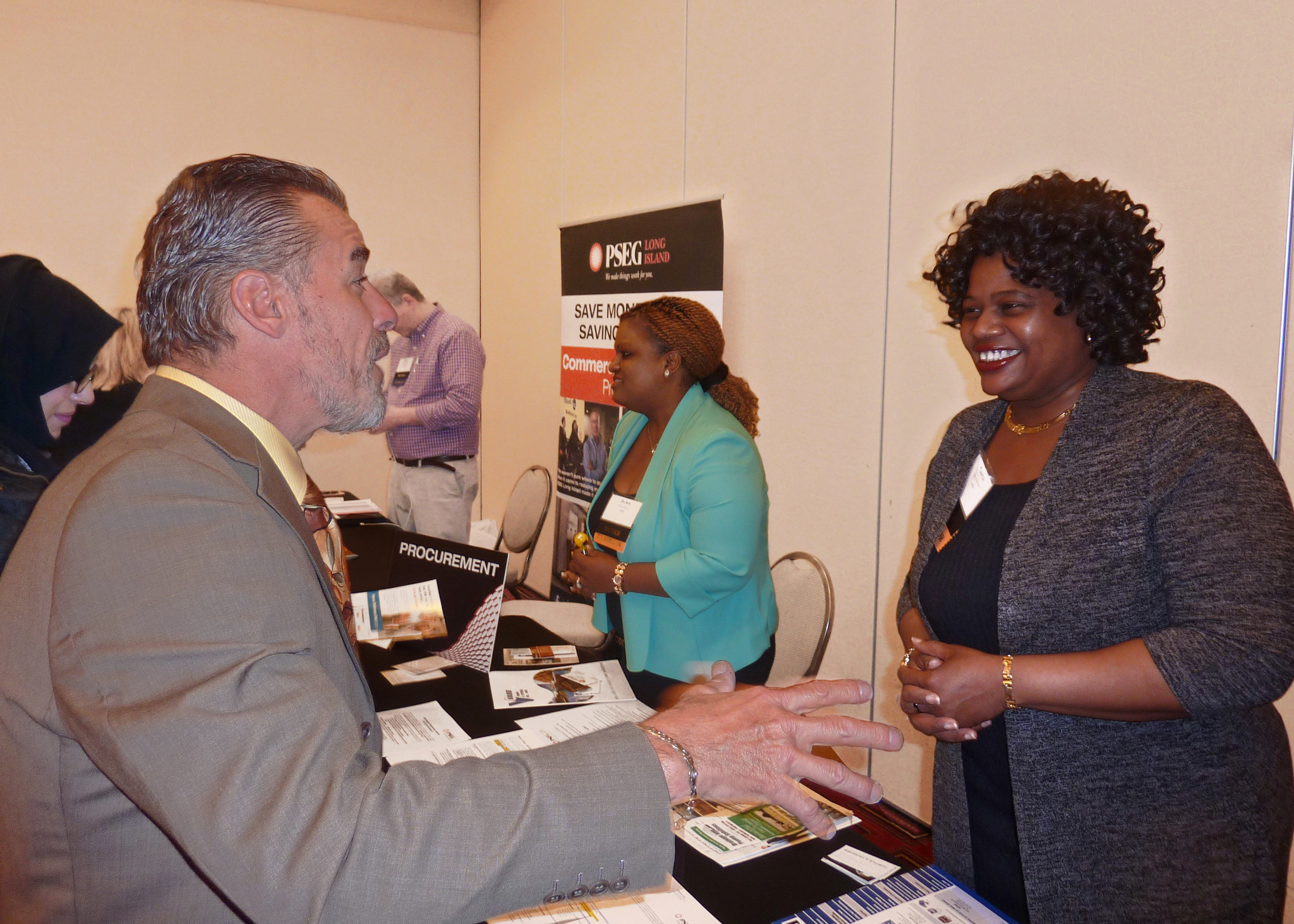 PSEG Long Island connects with Long Island's diverse business community, Business Advocacy Organizations and Corporate Partners at its successful first annual Supplier Diversity Procurement Fair.