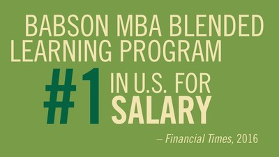 The Financial Times (FT) ranks Babson's Blended Learning MBA Program