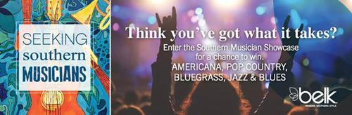 Belk is now accepting entries for the 2014 Southern Musician Showcase.(PRNewsFoto/Belk, Inc.) (PRNewsFoto/BELK, INC.)