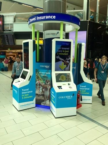 Columbus kiosks at Gatwick South Terminal (PRNewsFoto/Columbus Direct) (PRNewsFoto/Columbus Direct)