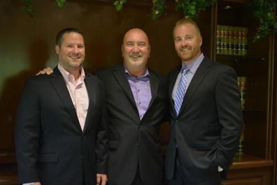 Left to Right, COO Ryan Clutterbuck, CEO Robert Davis, President Brendon Davis