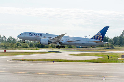 One of United's newest aircraft, the Boeing 787-9