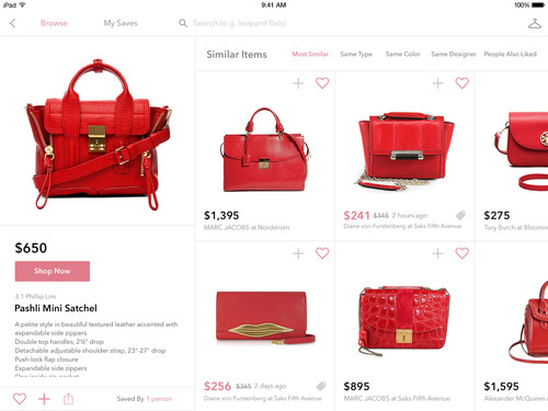 Shop handbags across hundreds of fashion stores, all in one app with StyleSpotter. (PRNewsFoto/ZIpfWorks) (PRNewsFoto/ZIPFWORKS)