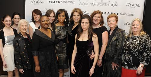 The L'Oreal Paris Women of Worth Honorees with L'Oreal Paris president Karen Fondu and Kerry ...