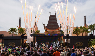 This new live, stage show celebrates iconic moments from the Star Wars saga with live vignettes featuring popular Star Wars characters, such as Kylo Ren, Chewbacca, Darth Vader and Darth Maul. The show takes place multiple times each day at the Center Stage area near The Great Movie Ride. (Todd Anderson, photographer)