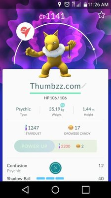 THUMBZZ.com renamed all its Pokemon to promo its website to the game's players on major gym landmarks.