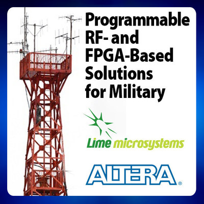 Altera and Lime Microsystems to demonstrated programmable RF and FPGA solutions at MILCOM