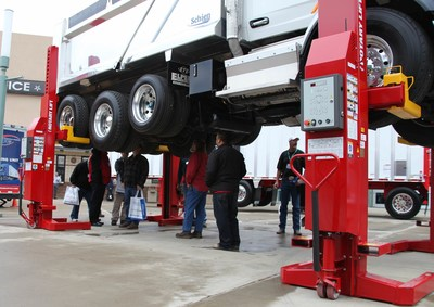 Fleet operators can learn how Rotary Lift's timesaving Mach Series mobile column lifts can help improve shop productivity at the upcoming TMC Annual Meeting & Transportation Technology Exhibition, Work Truck Show, and Mid-America Trucking Show.