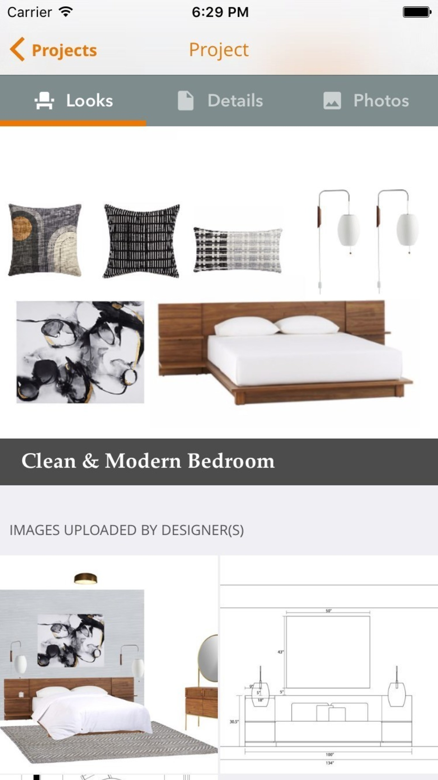 On the NousDecor app, a user can review completed looks, 3D renderings, design elevations and more all on the mobile device. In addition to uploading photos of rooms or inspiration via the app, this real-time communication with the design team makes the experience more streamlined and optimizes for beautiful design.