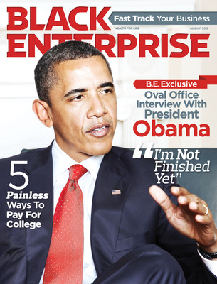 In August's Black Enterprise magazine, SVP/Editor-in-Chief Derek T. Dingle goes exclusively one-on-one with President Barack Obama concerning the needs, concerns and criticism from the black business community. Visit www.blackenterprise.com now for the complete Q&A. The publication, with exclusive Oval Office photos by Black Enterprise Director of Photography Lonnie C. Major, is available on newsstands now.  (PRNewsFoto/BLACK ENTERPRISE)