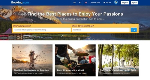 Find the Best Places to Enjoy Your Passions (PRNewsFoto/Booking.com)
