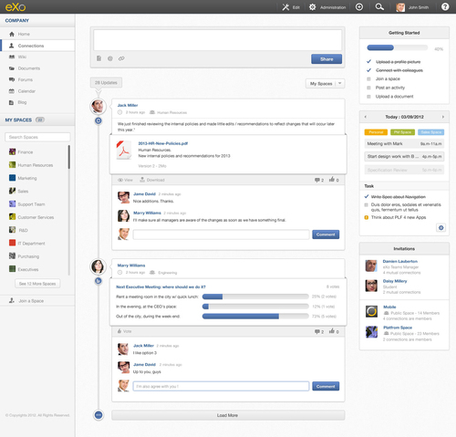 eXo Cloud offers an instant access to an online intranet based on eXo Platform 4. eXo Cloud integrates social ...