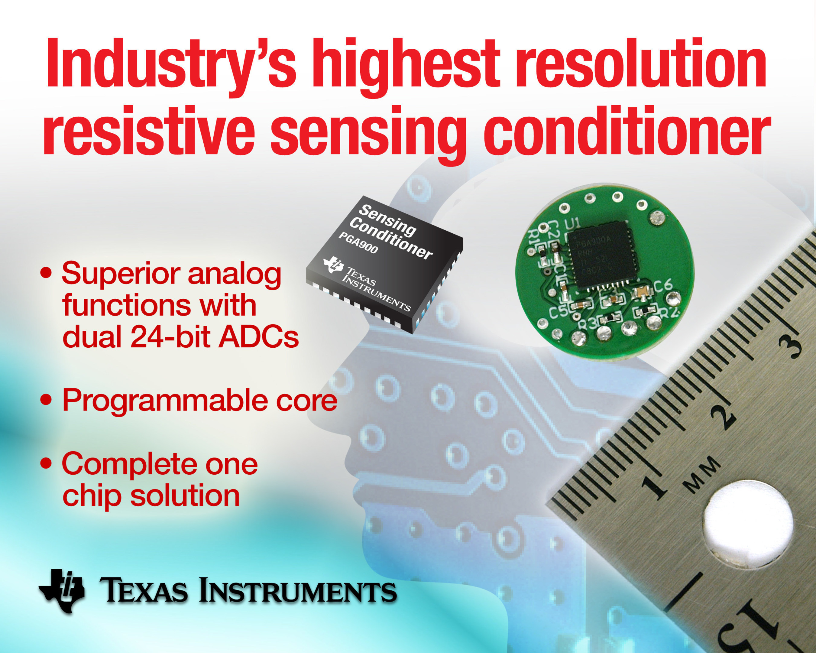 TI introduces the highest resolution resistive sensing conditioner, offering performance and precision without compromise