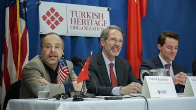 Turkish Heritage Organization panelists Professor David Romano, Douglas Hengel and David Livingston discussed Turkey's role in global energy politics.
