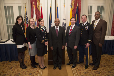The IU-UNC LogMBA 2015 Graduates with Commencement Speaker RADM Erroll M. Brown, USCG (Retired), IDB Executive Fellow Emeritus, at the Army and Navy Club in Washington, DC. (Photo: IDB.org)