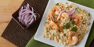Celebrate National Rice Month with this Shrimp Chutney made with the new Minute Ready to Serve Basmati Rice. With its aromatic fragrance, nutty flavor and 60-second heating time, Minute Ready to Serve Basmati Rice is a great foundation to any Asian, Middle Eastern and traditional dish, making it another must-have pantry staple for those looking for flavor variety.