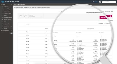 Hotelsoft Liveshop real time rate and market intelligence data for hotels.