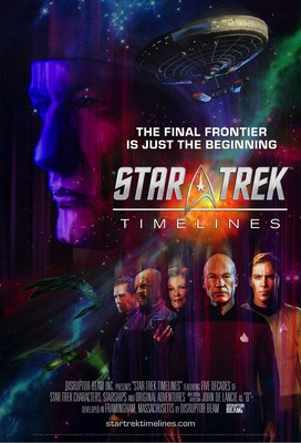 STAR TREK TIMELINES launch poster