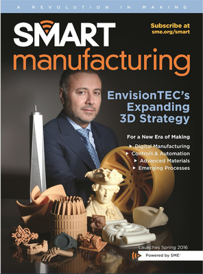 Smart Manufacturing magazine to launch in Spring 2016; published by Advanced Manufacturing Media, a division of SME - a nonprofit organization serving the manufacturing industry by promoting advanced manufacturing technology and developing a skilled workforce.