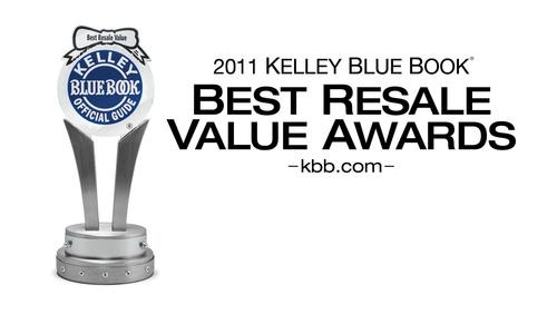 Kelley Blue Book Announces Winners of 2011 Best Resale Value Awards