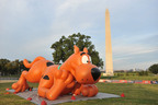 Fifty-five foot Scooby-Doo balloon greets fans at the Second Annual National Family Pack Walk at the National Mall on Saturday Sept. 29, 2012, in Washington. (PRNewsFoto/Larry French/Invision for Warner Bros. Consumer Products/AP Images)