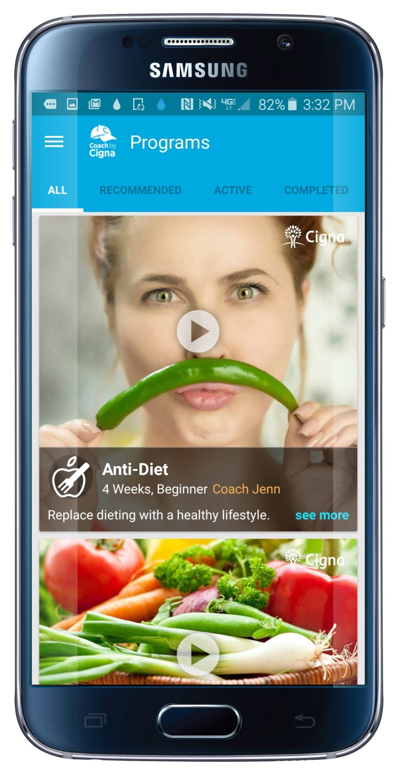 Coach by Cigna App Adds The Anti-Diet, Loving Yourself and Top to Bottom Fitness Programs