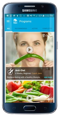 Anti Diet book by Random House now also a program on Coach by Cigna app.