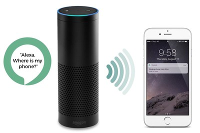 """New TrackR Find My Phone skill for Amazon Alexa allows customers to locate a misplaced phone by simply saying, """"Alexa, ask TrackR to find my phone."""""""