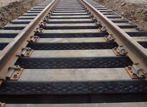AXION ECOTRAX(R) Composite Railroad Ties.  (PRNewsFoto/AXION International Holdings, Inc.)