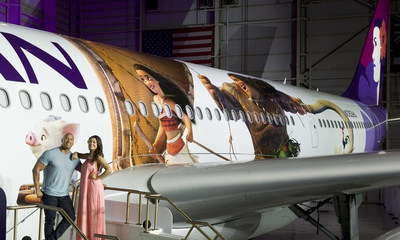 Hawaiian Airlines today revealed the first of three