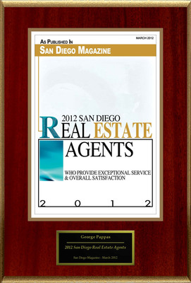 "George Pappas Selected For ""2012 San Diego Real Estate Agents.""  (PRNewsFoto/American Registry)"