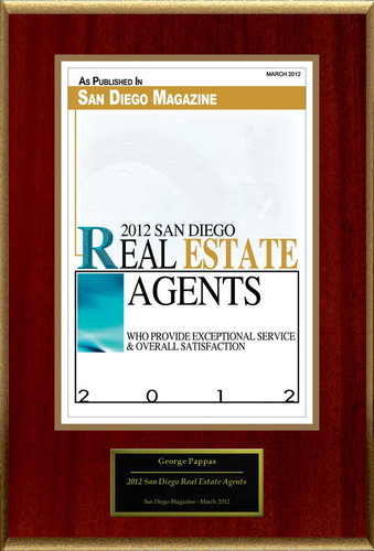 George Pappas Selected For '2012 San Diego Real Estate Agents'