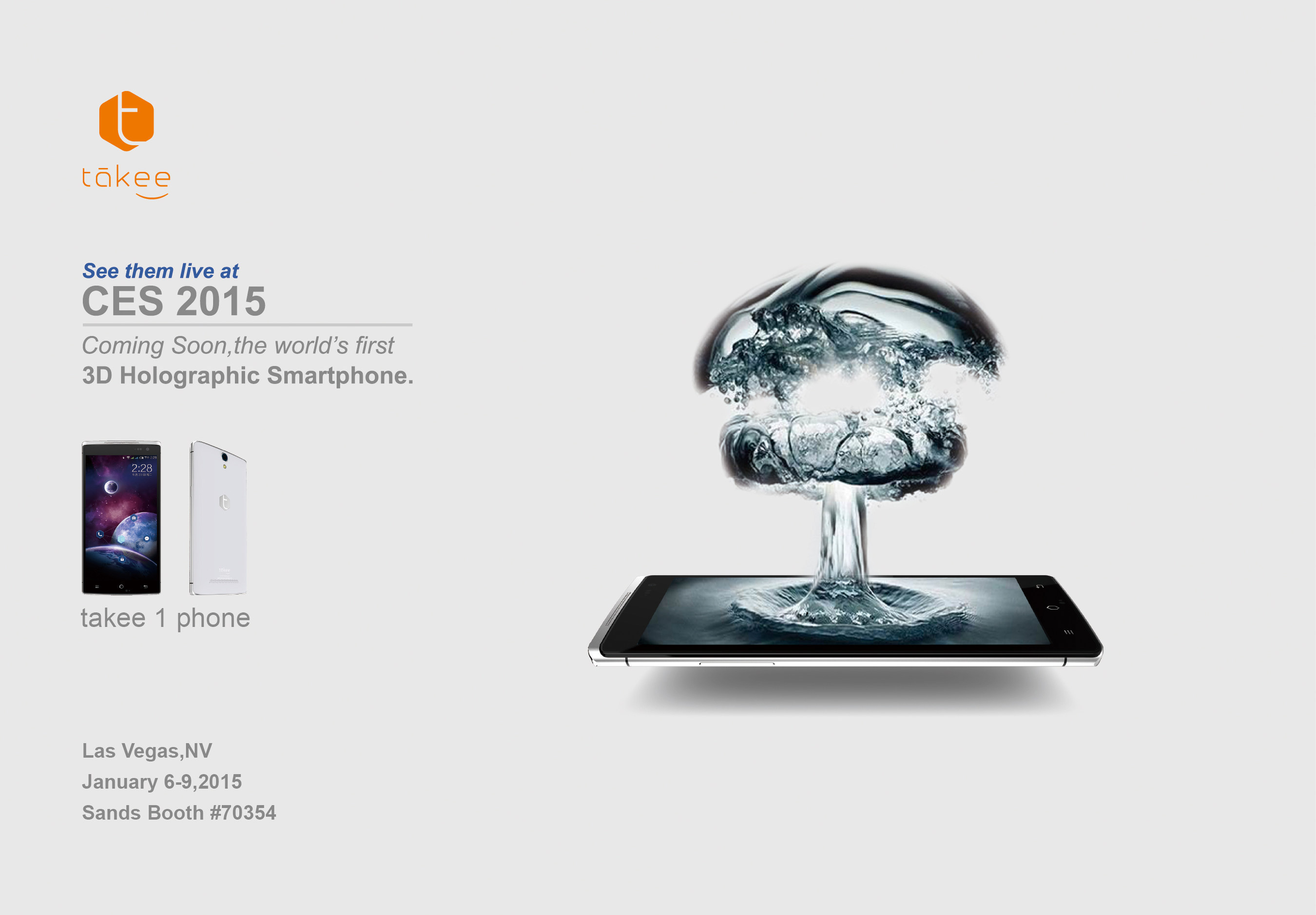 takee1 Holographic Smartphone Wins 2015 CES Innovations Award
