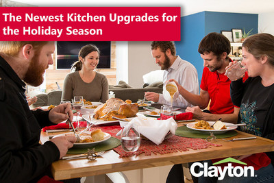 Clayton's kitchen upgrades give homeowners the perfect space for hosting friends and family over the holidays.