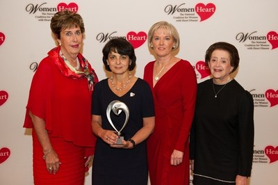 WomenHeart Board Chair Kathy Webster, 2016 Wenger Awardee Dr. Viola Vaccarino, WomenHeart CEO Mary McGowan, Dr. Nanette Wenger
