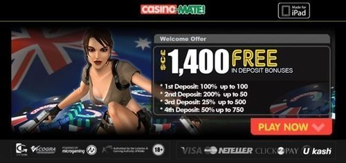 Casino-Mate Mobile Casino (PRNewsFoto/Vagas Partner Lounge)