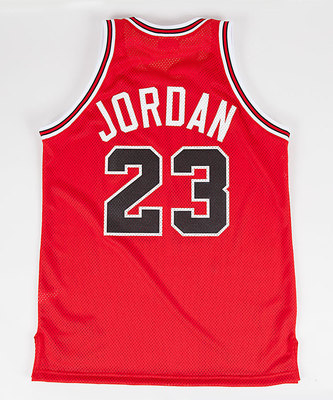 Michael Jordan 'The Shot' Jersey Back. (PRNewsFoto/Mitchell & Ness Nostalgia Co.)