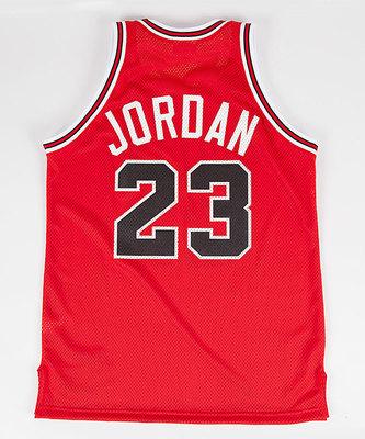 Michael Jordan 'The Shot' Jersey Back. (PRNewsFoto/Mitchell & Ness Nostalgia Co.)
