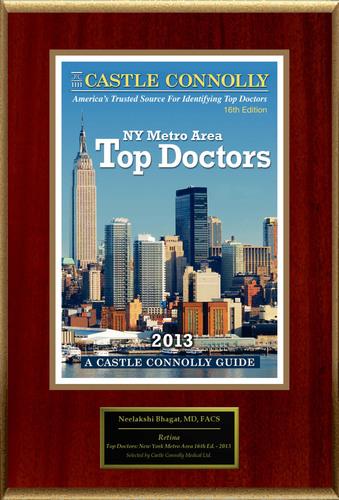 Dr. Neelakshi Bhagat is recognized among Castle Connolly's Top Doctors® for Newark, NJ region in
